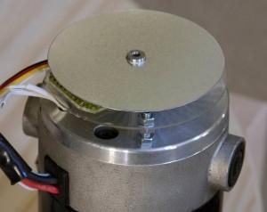 Encoder disk mounted above the sensors