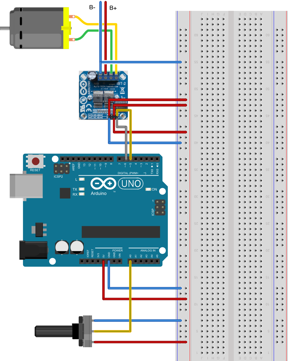 Ibt 2 H Bridge With Arduino Dr Rainer Hessmer Bldc Motor Control Circuit Using Bb