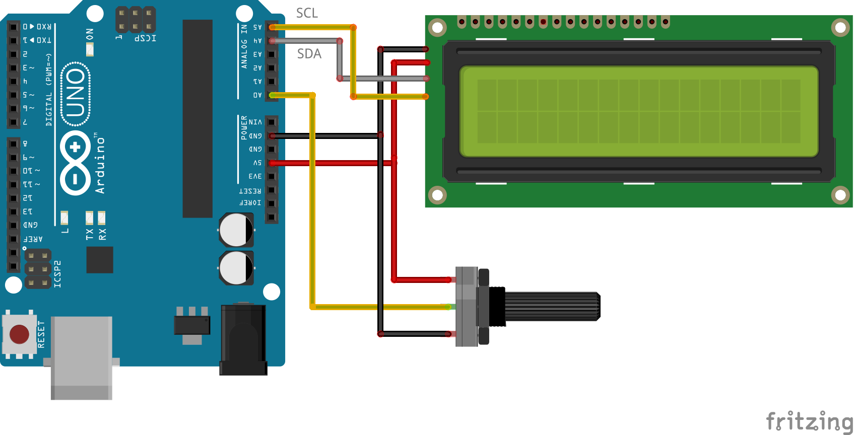 LCD Display with Potentiometer_bb