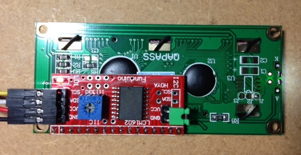 Display to arduino by i2c